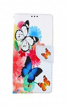Knížkové pouzdro na Samsung A42 Barevné s motýlky