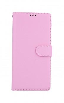 Knížkové pouzdro na Samsung A42 světle růžové s přezkou
