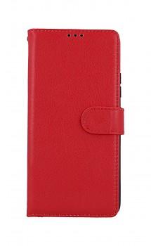 Knížkové pouzdro na Samsung A42 červené s přezkou