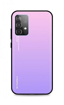 Zadní pevný kryt LUXURY na Samsung A52 duhový růžový
