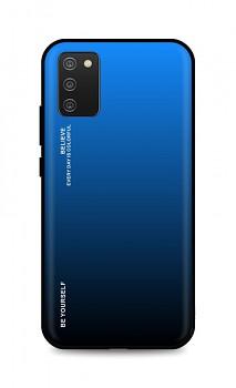 Zadní pevný kryt LUXURY na Samsung A02s duhový modrý