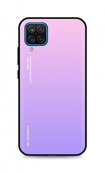 Zadní pevný kryt LUXURY na Samsung A12 duhový růžový