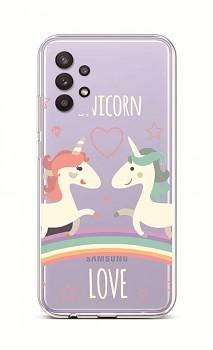 Zadní silikonový kryt na Samsung A32 5G Unicorn Love