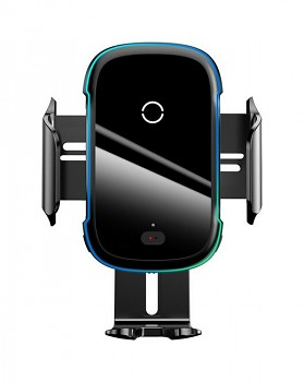 Držák na mobil s funkcí bezdrátového nabíjení Baseus Light Electric (WXHW03-01) černý