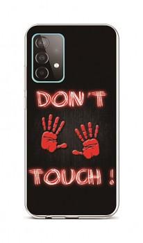 Zadní silikonový kryt na Samsung A52 Don't Touch Red