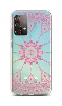 Zadní silikonový kryt na Samsung A52 Pink Mandala