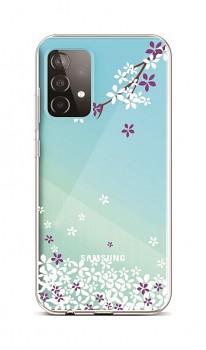 Zadní silikonový kryt na Samsung A52 Květy sakury