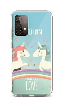 Zadní silikonový kryt na Samsung A52 Unicorn Love