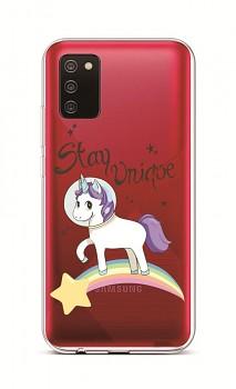 Zadní silikonový kryt na Samsung A02s Stay Unicorn