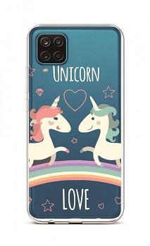 Zadní silikonový kryt na Samsung A12 Unicorn Love
