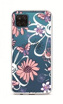 Zadní silikonový kryt na Samsung A12 Flowers