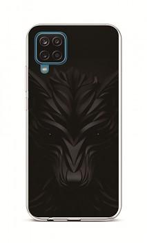 Zadní silikonový kryt na Samsung A12 Černý vlk