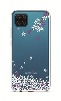 Zadní silikonový kryt na Samsung A12 Květy sakury
