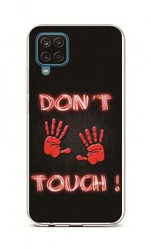 Zadní silikonový kryt na Samsung A12 Don´t Touch Red