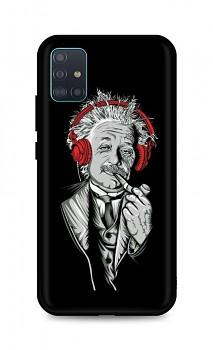 Zadní silikonový kryt DARK na Samsung A51 Albert Einstein