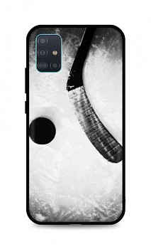 Zadní silikonový kryt DARK na Samsung A51 Hockey