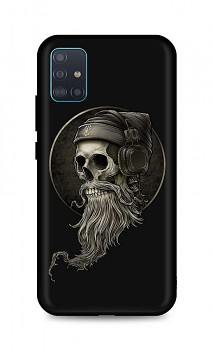 Zadní silikonový kryt DARK na Samsung A51 Music Skeleton