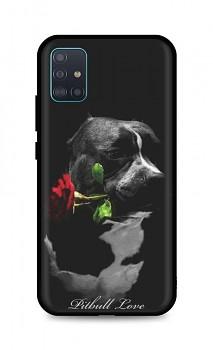 Zadní silikonový kryt DARK na Samsung A51 Pitbull Love
