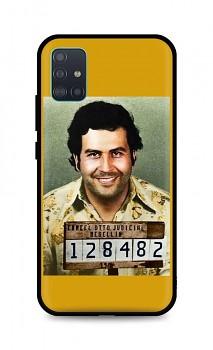 Zadní silikonový kryt DARK na Samsung A51 Pablo Escobar