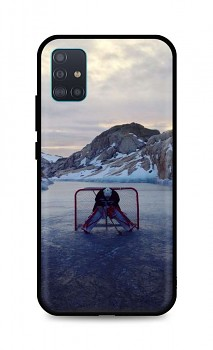 Zadní silikonový kryt DARK na Samsung A51 Hockey Goalie
