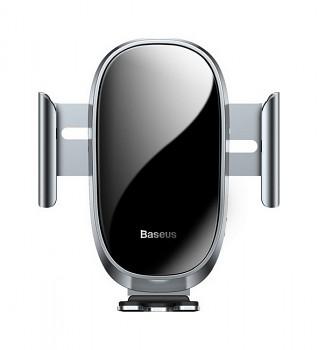 Držák na mobil s funkcí bezdrátového nabíjení Baseus Sugent ZN0S stříbrný