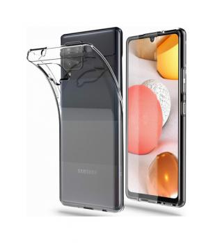 Zadní silikonový kryt na Samsung A42 2 mm průhledný