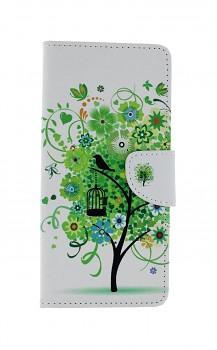 Knížkové pouzdro na Samsung A21s Bílé se stromem
