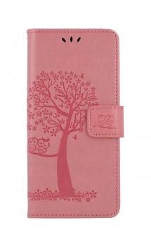 Knížkové pouzdro na Xiaomi Redmi 9C Růžový strom sovičky