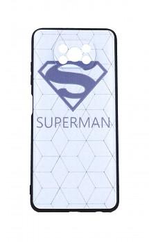 Zadní 3D silikonový kryt na Xiaomi Poco X3 Bílý Superman