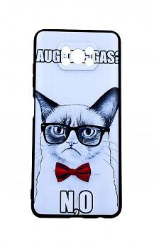 Zadní 3D silikonový kryt na Xiaomi Poco X3 Grumpy Cat