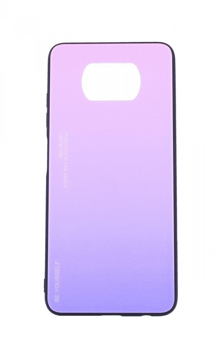 Zadní pevný kryt LUXURY na Xiaomi Poco X3 duhový růžový