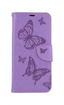 Knížkové pouzdro na Xiaomi Redmi 9C Butterfly fialové