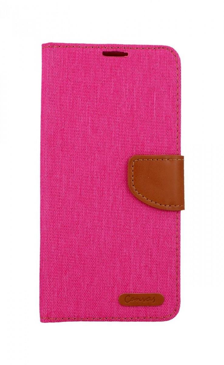 Pouzdro Canvas Samsung A12 knížkové růžové 56169 (kryt neboli obal na mobil Samsung A12)