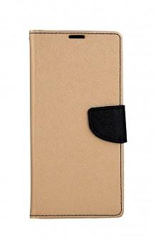 Knížkové pouzdro na Samsung A12 zlaté