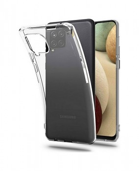 Zadní silikonový kryt na Samsung A12 2 mm průhledný