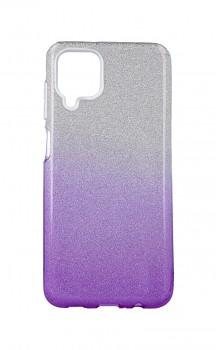 Zadní pevný kryt Forcell na Samsung A12 glitter stříbrno-fialový