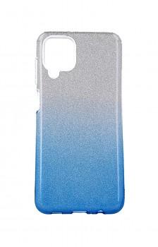 Zadní pevný kryt Forcell na Samsung A12 glitter stříbrno-modrý