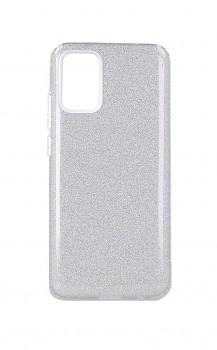 Zadní pevný kryt Forcell na Samsung A02s glitter stříbrný