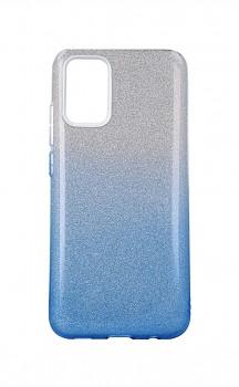 Zadní pevný kryt Forcell na Samsung A02s glitter stříbrno-modrý