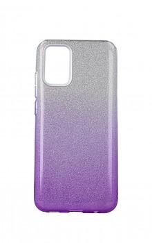 Zadní pevný kryt Forcell na Samsung A02s glitter stříbrno-fialový