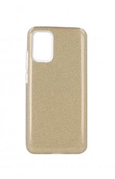 Zadní pevný kryt Forcell na Samsung A02s glitter zlatý
