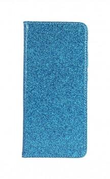 Knížkové pouzdro Magnet Book na Samsung A02s glitter modré