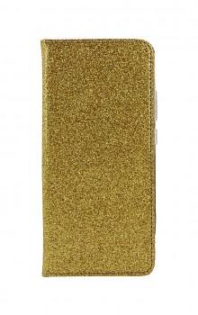 Knížkové pouzdro Magnet Book na Samsung A02s glitter zlaté