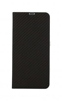 Knížkové pouzdro Luna Carbon Book na Samsung A02s černé