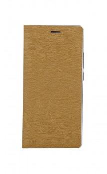 Knížkové pouzdro Luna Book na Samsung A02s zlato-stříbrné