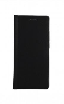 Knížkové pouzdro Luna Book na Samsung A02s černo-stříbrné