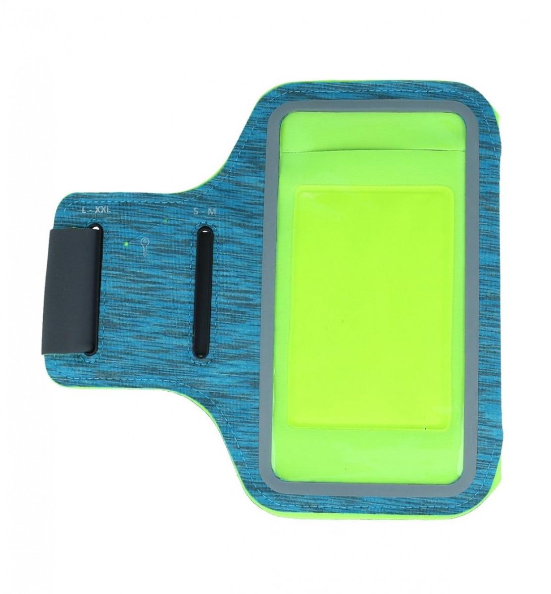 Sportovní pouzdro TopQ na ruku Streaky velikost XL modré 56578 (sportovní obal)