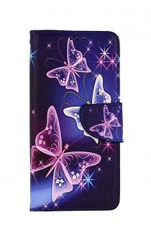 Knížkové pouzdro na Samsung A52 Modré s motýlky
