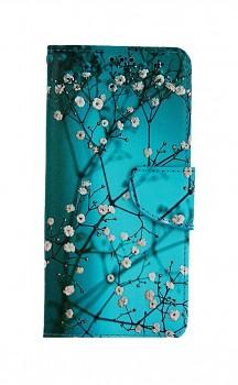 Knížkové pouzdro na Samsung A32 5G Modré s květy
