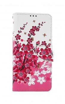 Knížkové pouzdro na Samsung A12 Kytičky textil
